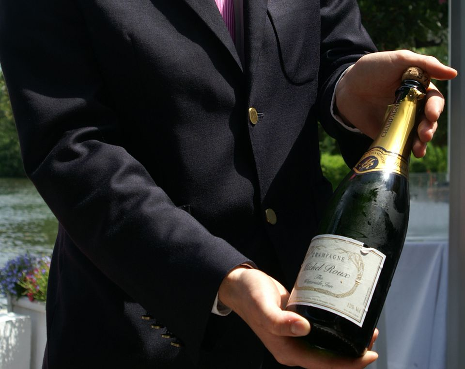 Champagne at the Waterside Inn