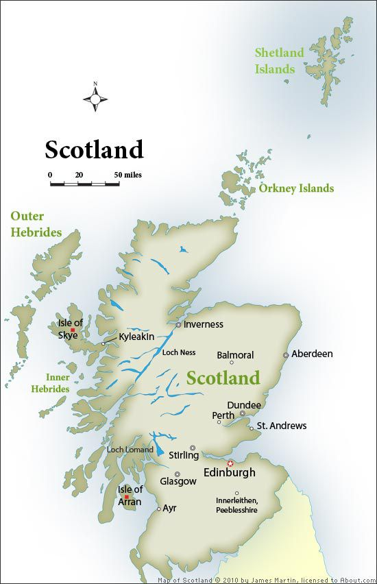 Scotland Map Top Tourist Hot Spots