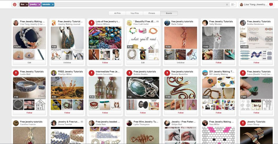 Search for Pinterest Boards