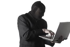 Man stealing employees' identities from a stolen laptop