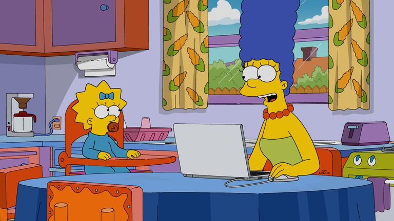 Marge Simpson Goes Online