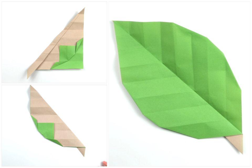 make some easy origami leaves