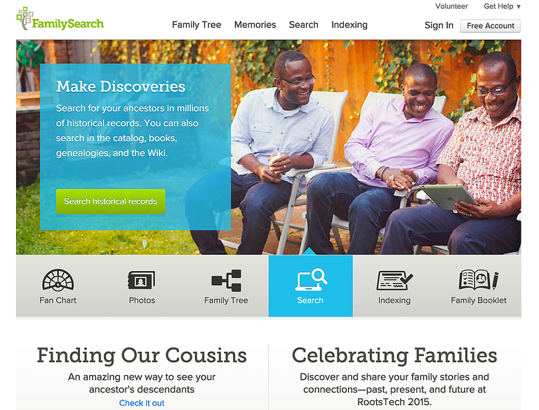 FamilySearch Historical Record Search