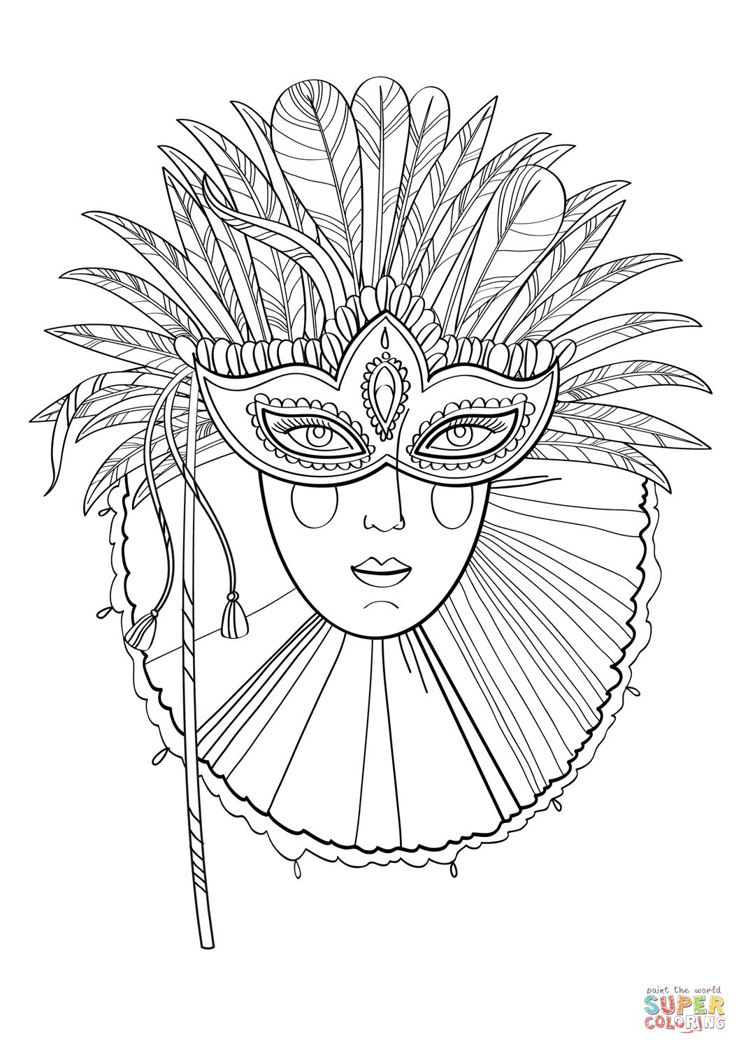 get printable mardi gras coloring pages for free