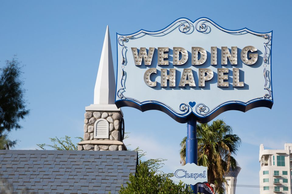 wedding chapel sign in las vegas nevada