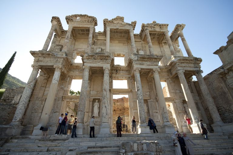 Reconstructed Ruins of the Ancient Library at Ephesus, Turkey