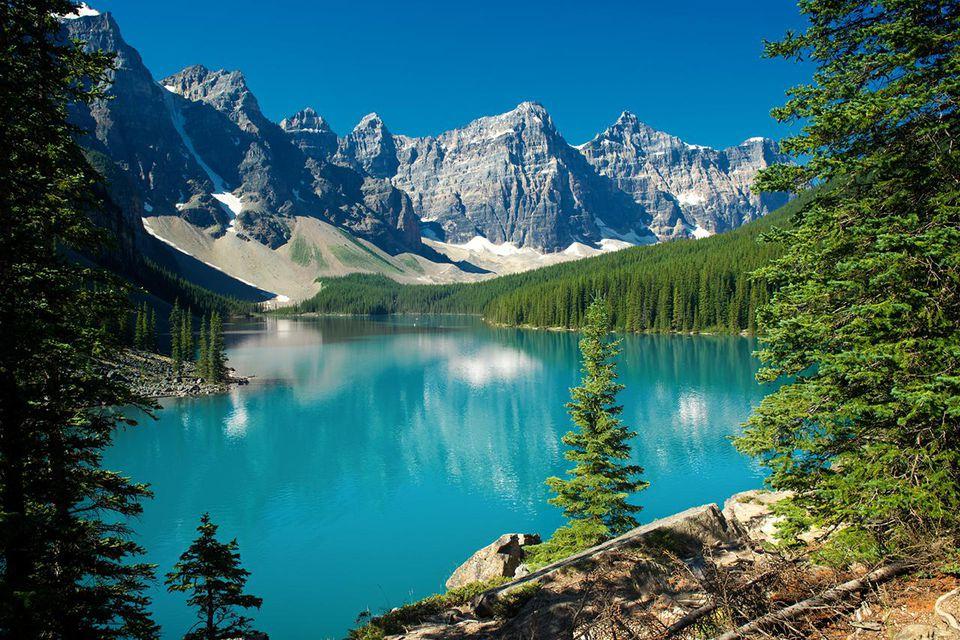 Lake Moraine, Banff National Park in Alberta.