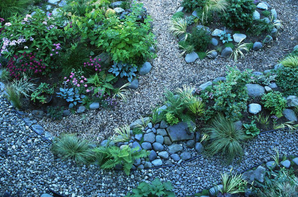 Rock garden in landscaping: image.