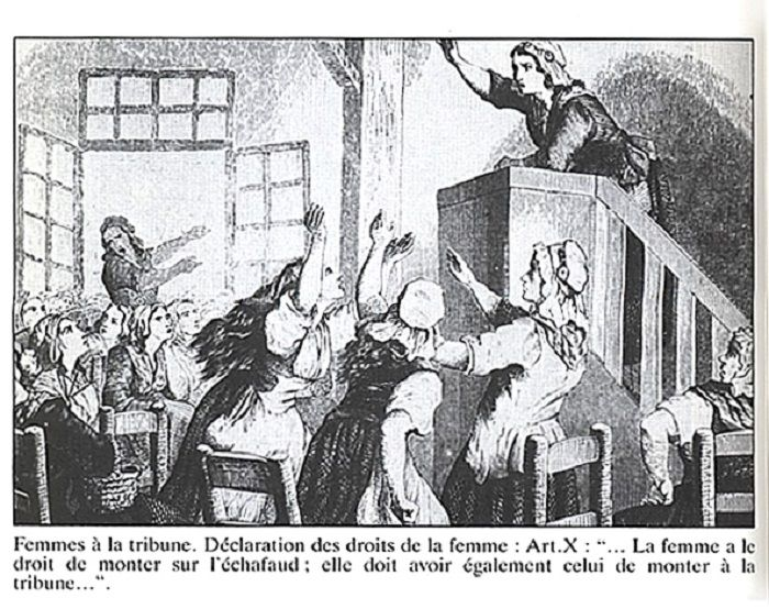 Olympe de Gouges, referente de la lucha de las mujeres en la Ilustración.