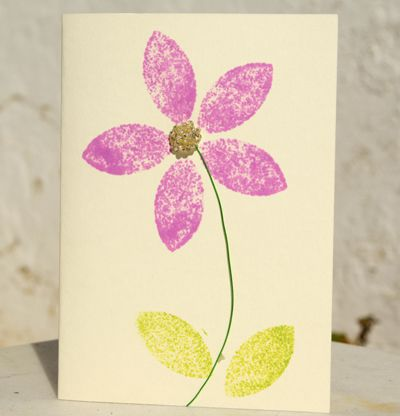 Ideas for simple rubber stamped greeting cards simple flower card m4hsunfo