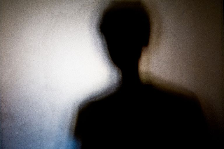silhouette of human figure