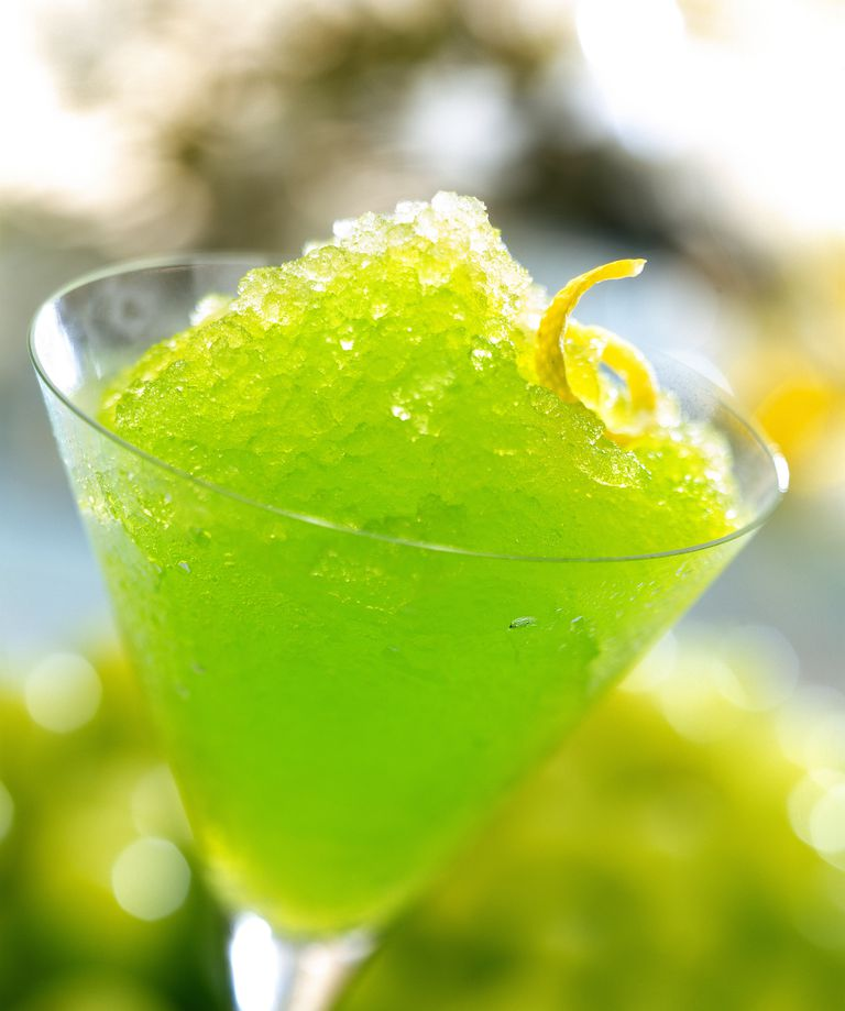 Slushy green drink