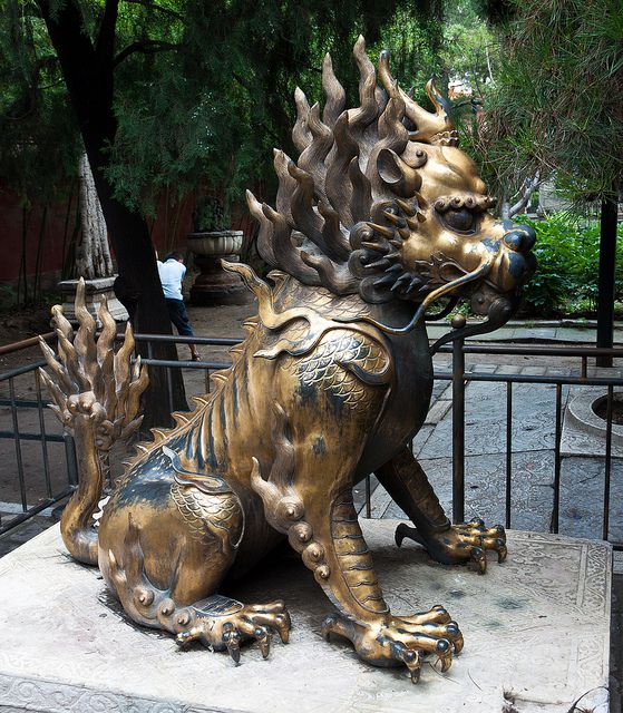 The qilin doesn't really resemble a western unicorn, but symbolizes good luck.