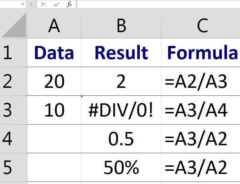 Division Excel