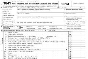 Form 1041 | IRS Form Help