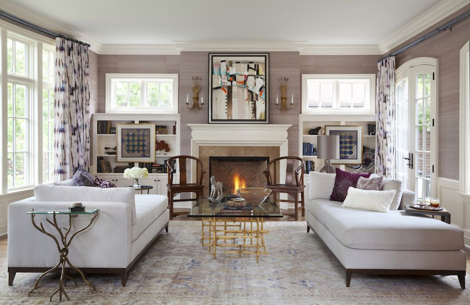 House Tour: This Traditional Home Has One Vibrant Color Palette