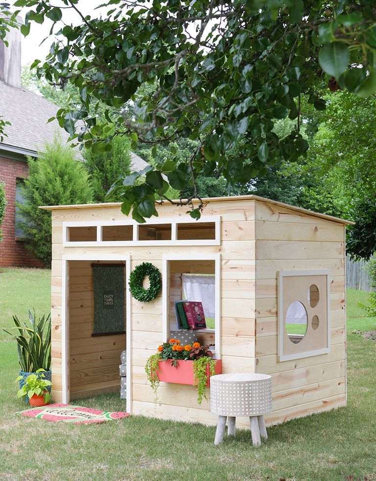 12 free playhouse plans the kids will love for Playhouse floor plans