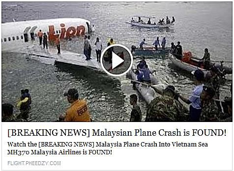 BREAKING NEWS Malaysian Plane Crash is Found!