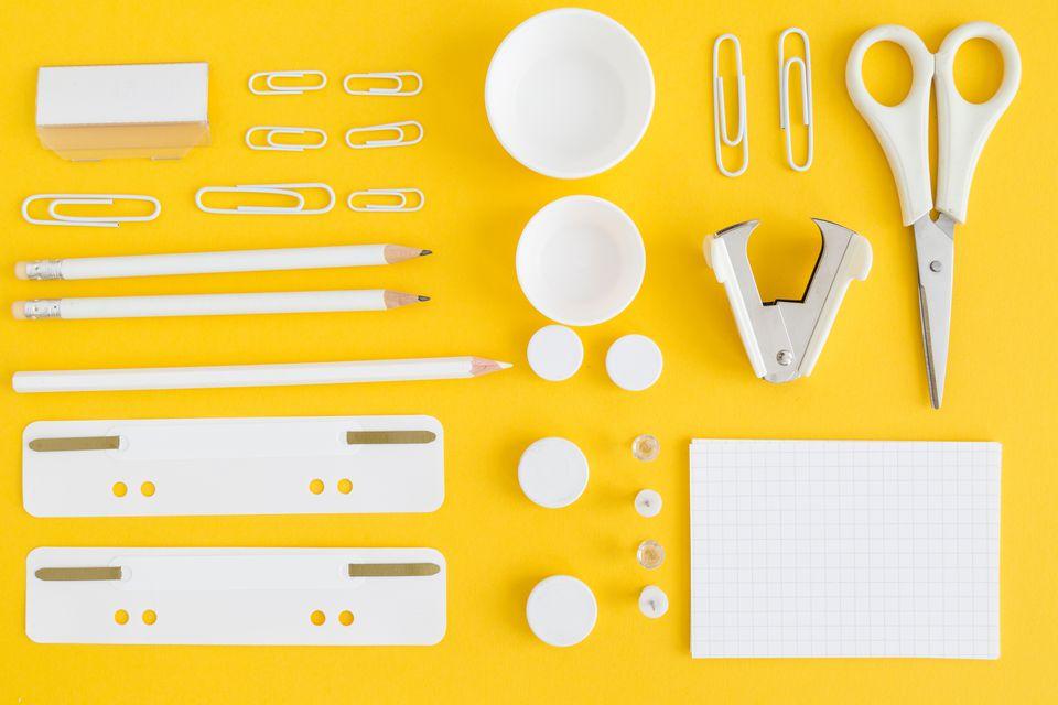 Organized office supplies