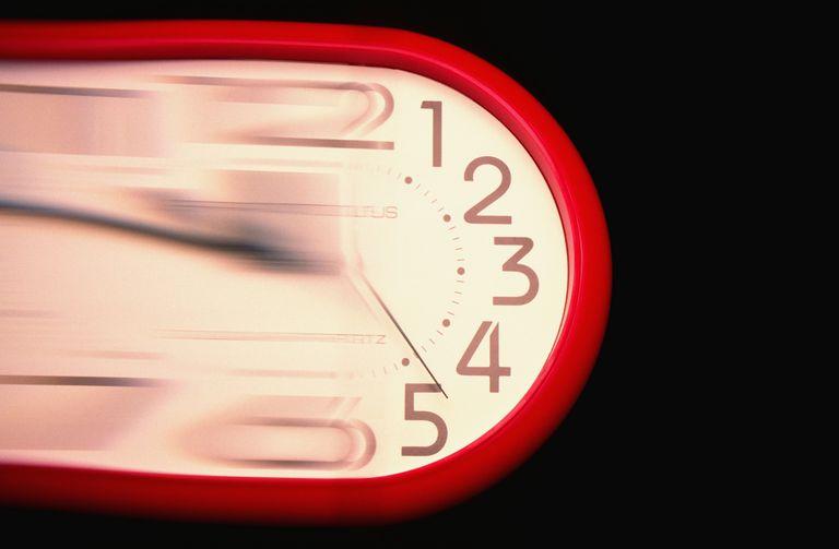 blurry clock