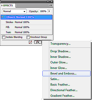 Effects Dialog in Adobe InDesign