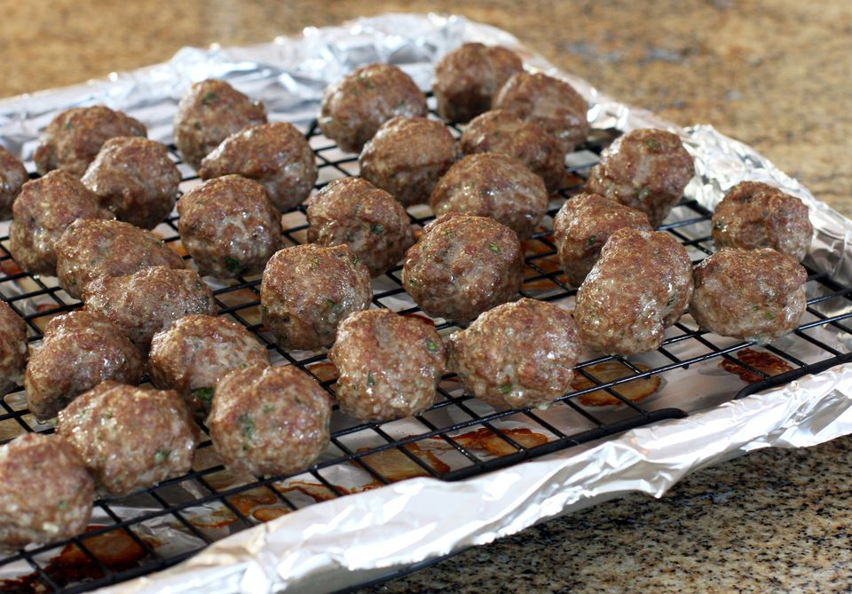 Baked Meatballs With Herbs