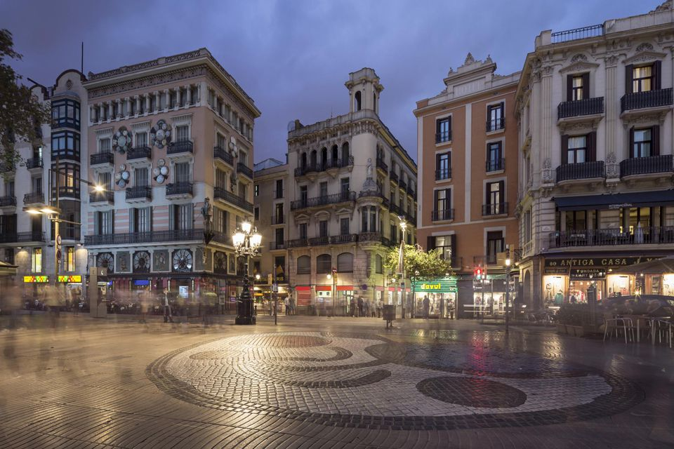 Ramblas, Miro Mosaic, Barcelona, Catalunia
