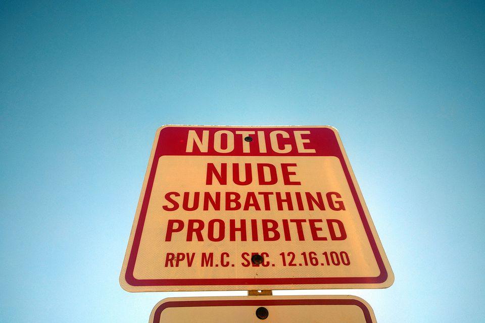 Nude Sunbathing Prohibited