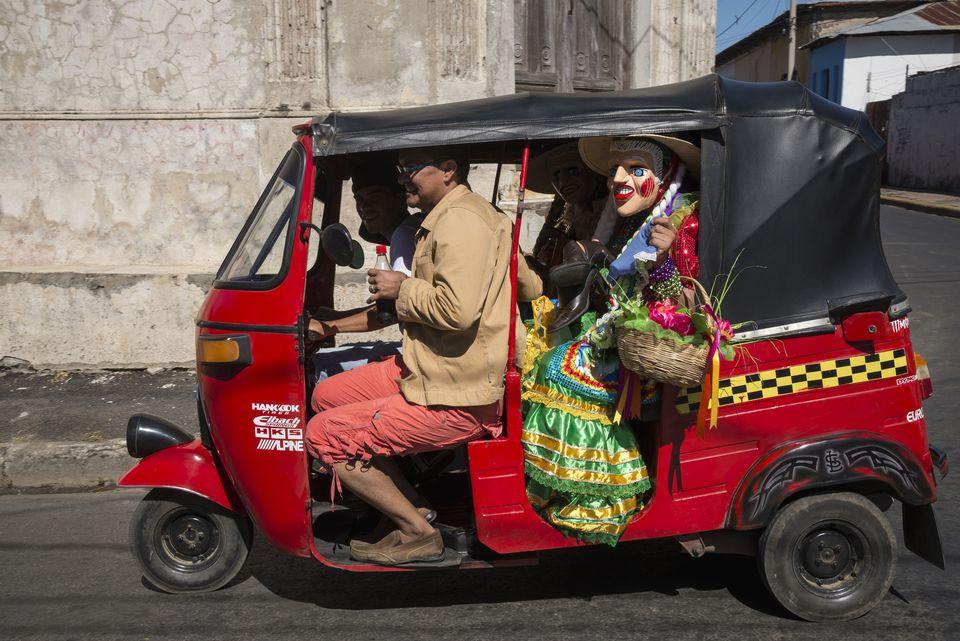 A mototaxi in Central America.