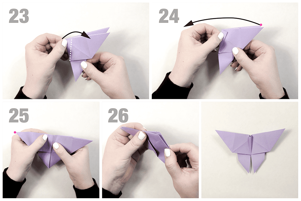 How To Make A Traditional Origami Butterfly - Folding Instructions ... | 640x960