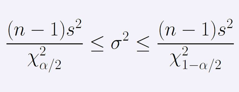 This string of inequalities gives us a confidence interval for a population variance.