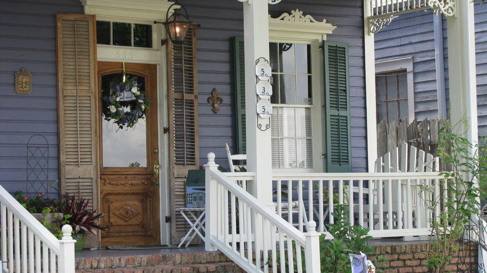 purple porch