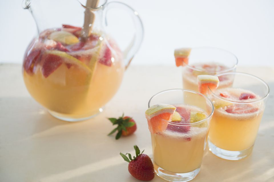 Studio shot of fruit cocktail