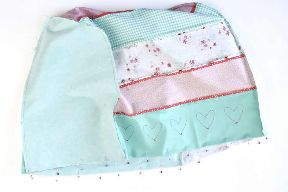 Pin and Sew the Outside and Lining