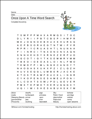 fairy tales wordsearch crossword puzzle and more. Black Bedroom Furniture Sets. Home Design Ideas
