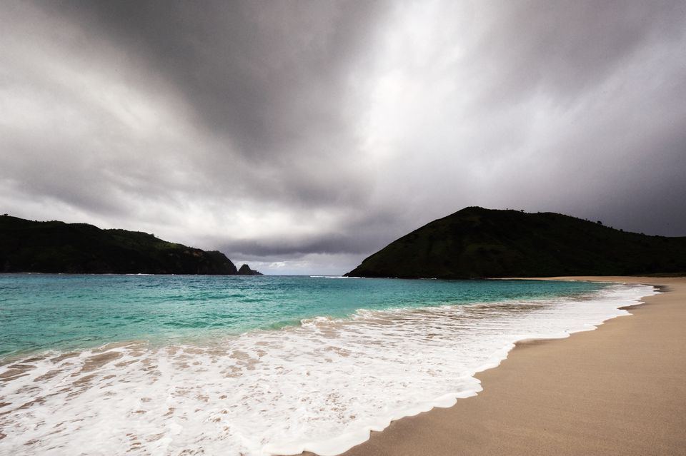 A stormy beach in Asia