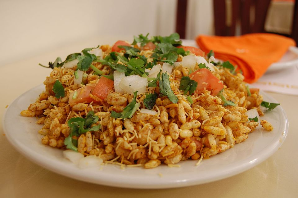 Bhelpuri, a variety of chaat in Indian cuisine