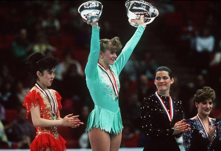 Kristi Yamaguchi - Tonya Harding - Nancy Kerrigan - 1991 US Figure Skating Championships