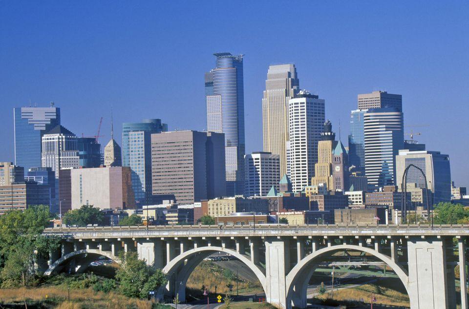 'Morning view of Minneapolis, MN skyline'
