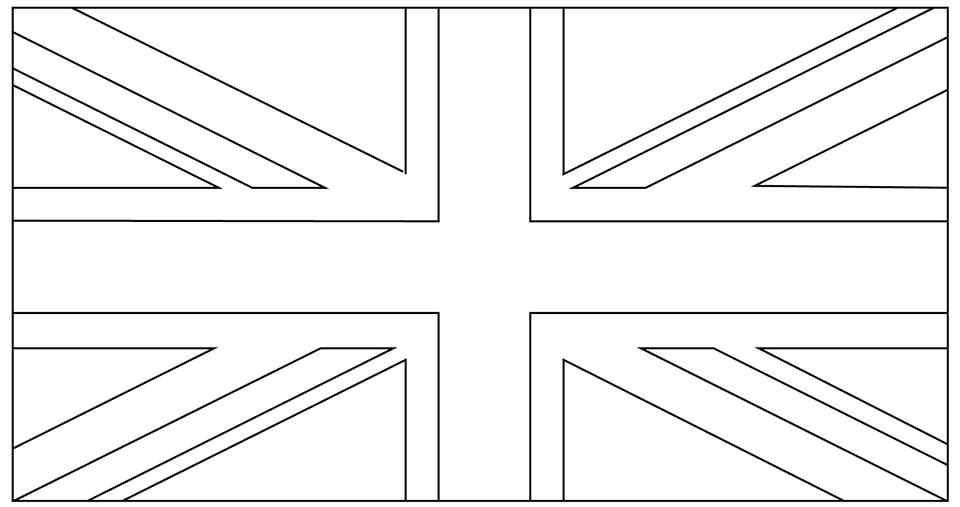 Printable Union Jack Digital Stamp