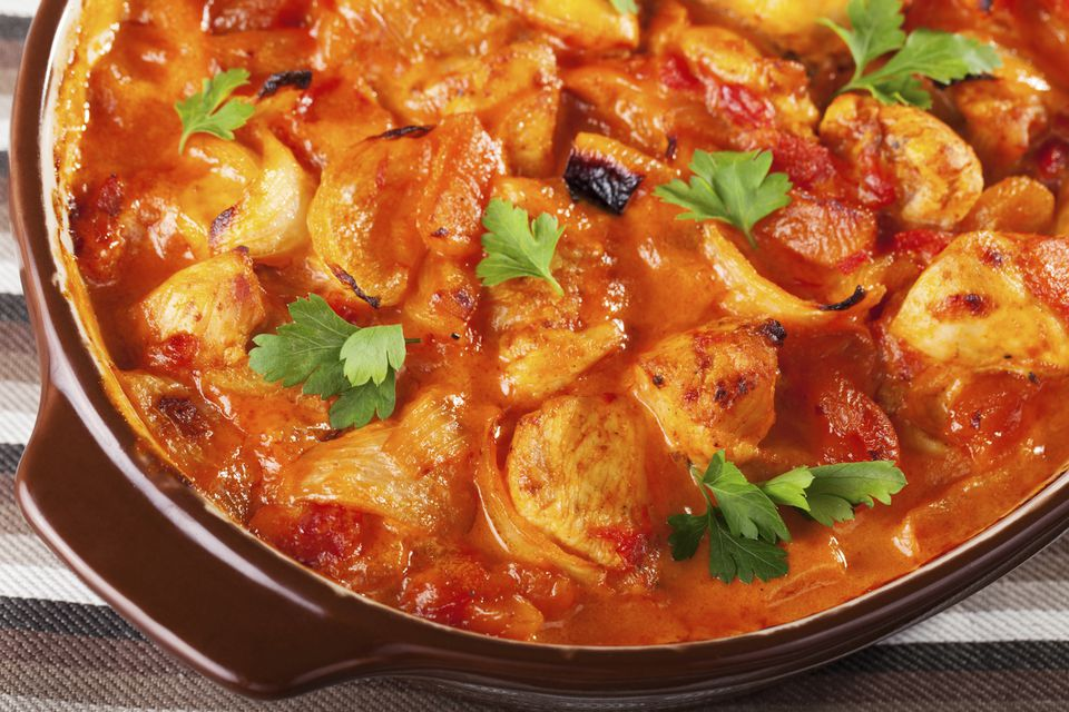 Chicken with tomato sauce recipe.