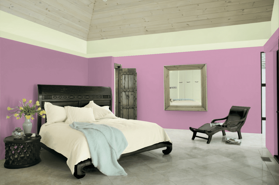 Hollyhock from Pratt   Lambert. 10 Great Pink and Purple Paint Colors for the Bedroom