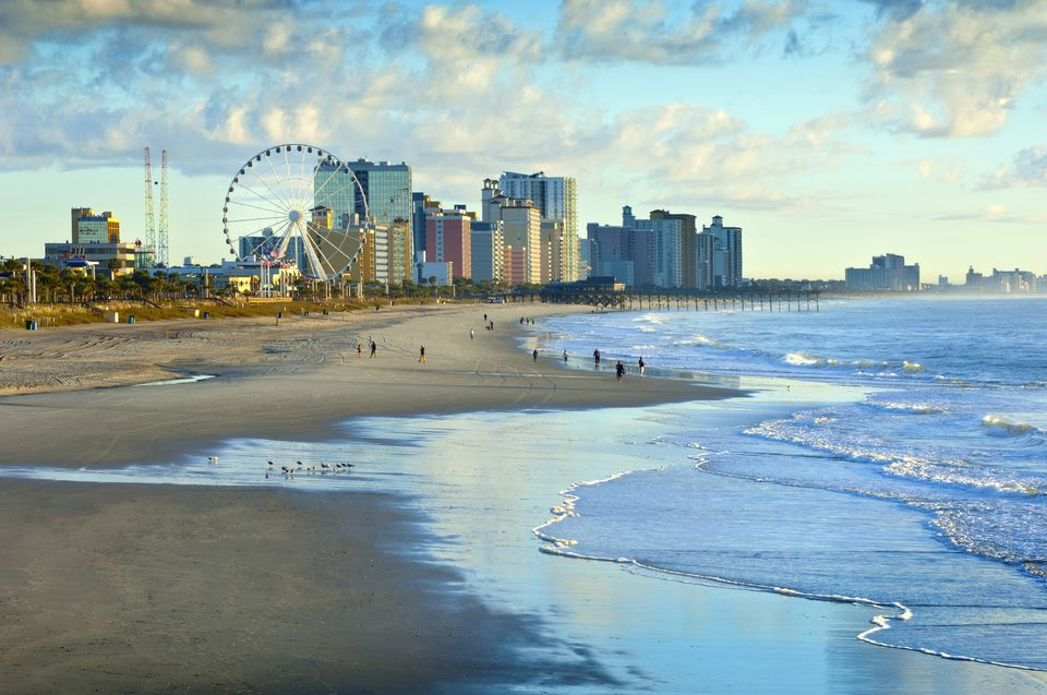 USA, South Carolina, Myrtle Beach, Ferris wheel on Grand Strand