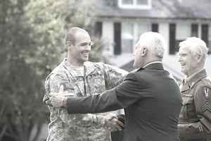 Multigenerational meeting of veterans