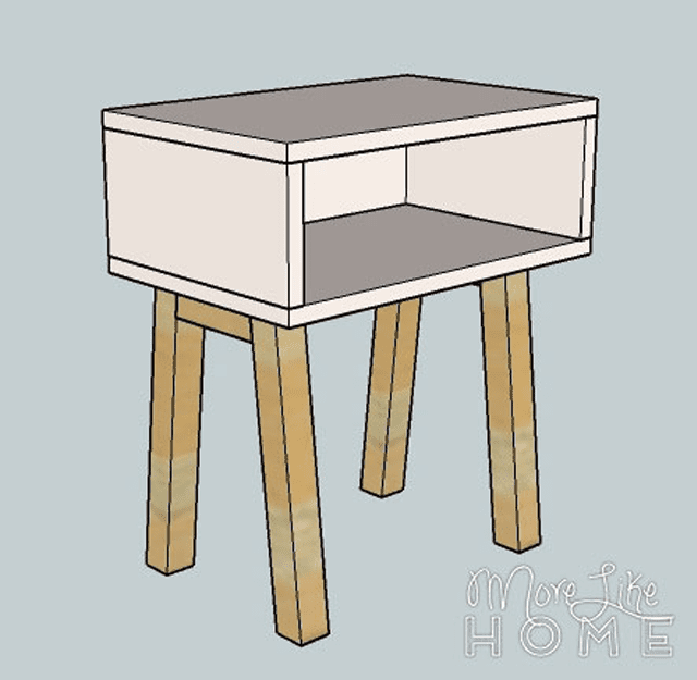 Free nightstand plans for your bedroom for Simple nightstand designs