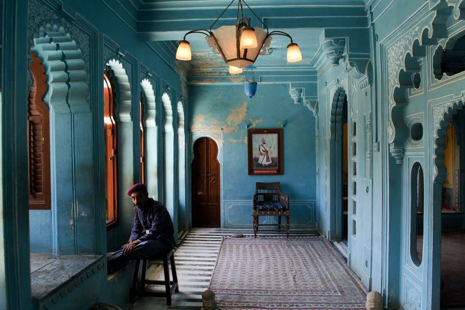 Inside Udaipur City Palace Museum.