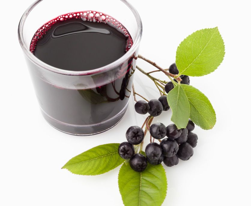 Aronia berries and aronia juice