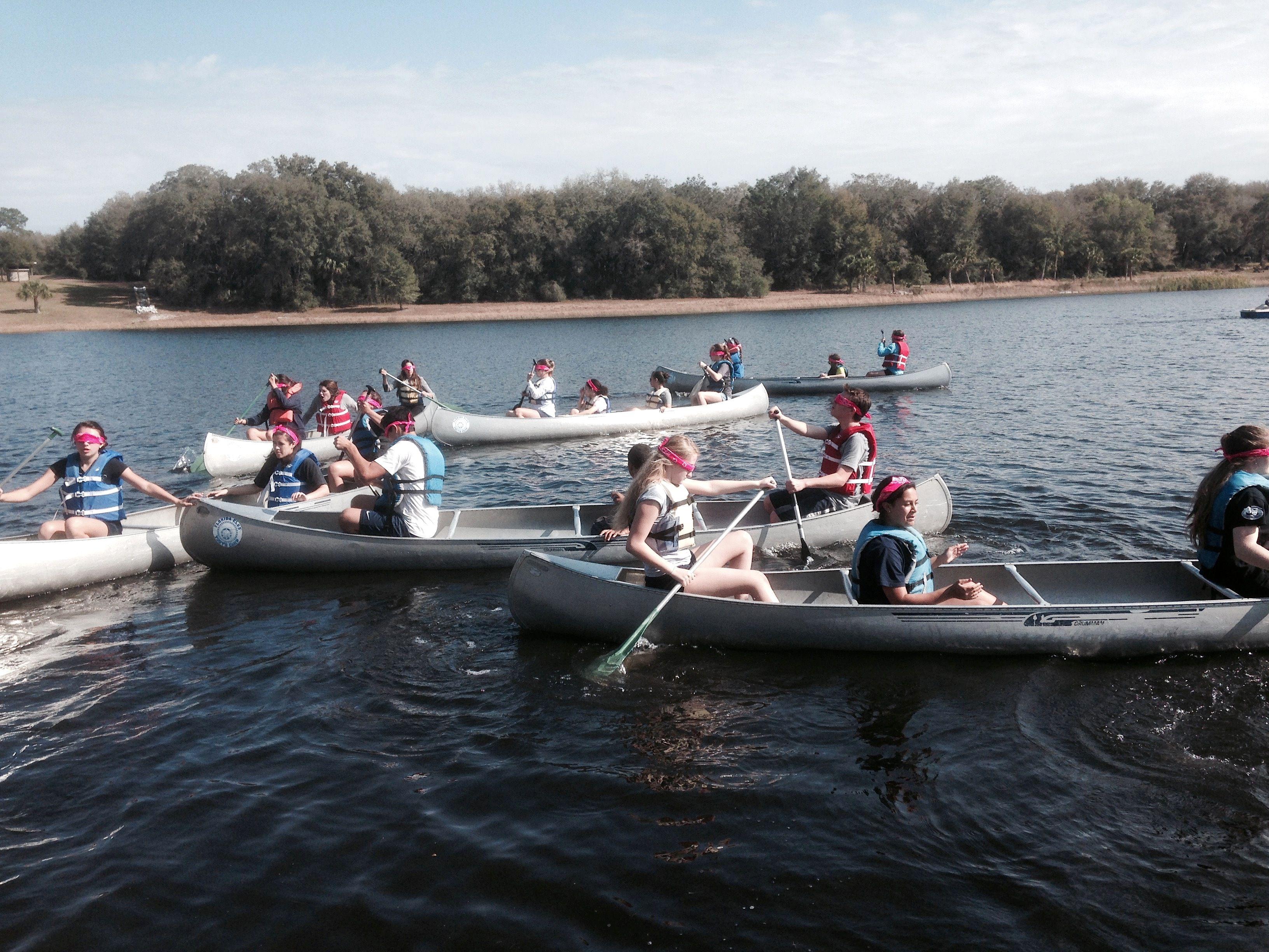 trust teamwork and leadership canoe games