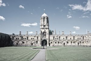 Christ Church's Tom Tower, Oxford University, England