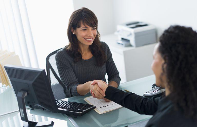 Hiring manager at job interview